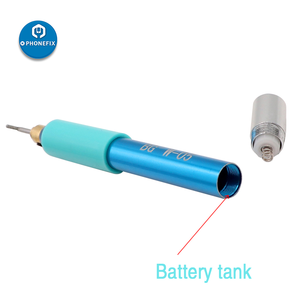 PHONEFIX Electric Polishing Pen Mobile Phone CPU Grinding Tool with Battery for iPhone Motherboard BGA Chip Grinding Repair Tool