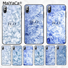 MaiYaCa Summer cool ice cubes Painted Cover Style Soft Shell Phone Case for Apple iPhone 8 7 6 6S Plus X XS MAX XR
