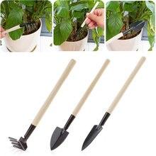 3 шт./компл. инструмент для выращивания в горшке Лопата лопатка Грабли Набор инструментов для домашнего садоводства на балконе комбинирован...