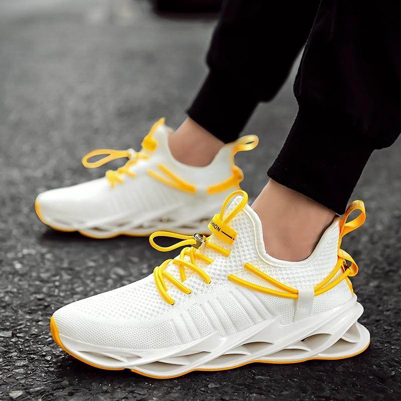 Men Vulcanized Shoes Tenis Feminino Mesh Casual Shoes Lace up Men Sneakers Ultralight Breathable Running Sneakers 6852 in Men 39 s Vulcanize Shoes from Shoes