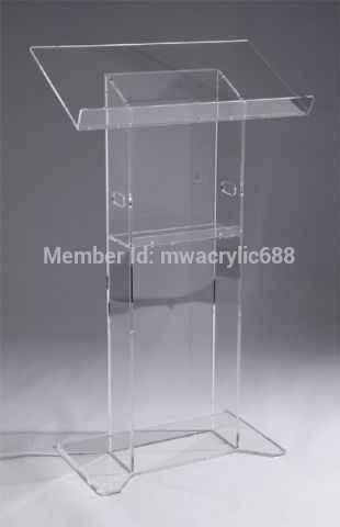 Kanzel möbel Freies Verschiffen Hohe Qualität Solidität Moderne Design Günstige Acryl Rednerpult acryl podium