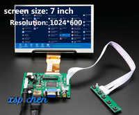 Pantalla LCD HD de 7 pulgadas, placa de Control de Monitor de alta resolución, HDMI, VGA, 2AV, para Lattepanda, Raspberry Pi, Banana Pi
