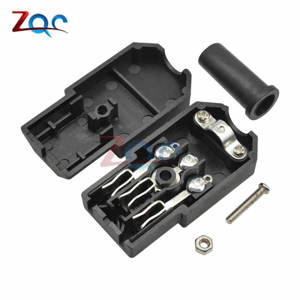 1 par AC-013A AC 250V 10A macho y hembra adaptador central de hierro 3 terminales IEC320 C13 AC conector de alimentación 3 PIN