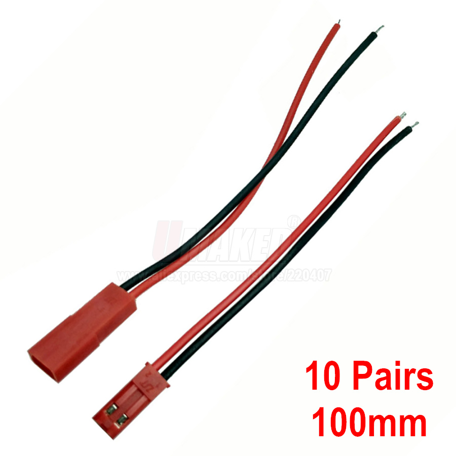 5/10pairs 100/150mm JST <font><b>Connector</b></font> Plug Cable <font><b>Male</b></font>+<font><b>Female</b></font> for RC Battery, <font><b>2pin</b></font> <font><b>connector</b></font> for led strip light, connect for power image
