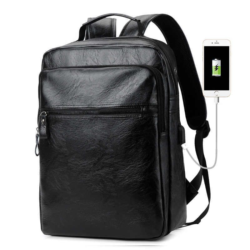 Man Reizen Laptop Rugzakken Waterdichte Pu Notebook Rugzak Voor Macbook Air Pro 11 12 13 15 Lenovo Business Computer Backbag