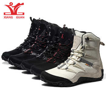 XIANG GUAN 2019 Winter Snow Boots For Women Winter Hiking Shoes Women Breathable Outdoor Sneakers Warm Hiking Boots Woman