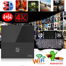 XGODY Android 9.0 Top Box A95X F2 4GB 32GB 64GB Amlogic S905X2 prend en charge le double Wifi avec i8 H9 Airmouse(China)