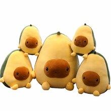 Авокадо, фрукты, плюшевые игрушечные растения, кавайные Мультяшные милые мягкие куклы, подушка для мальчиков и девочек, антистрессовая Подушка для детей
