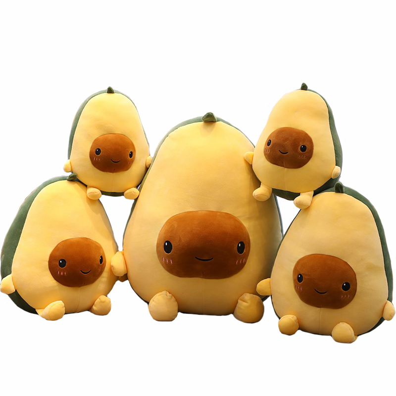 Avocado Fruits Plush Plant Toys Kawaii Cartoon Cute Stuffed Doll Cushion Boys Girls Anti Stress Cushion Pillow For Kids Children