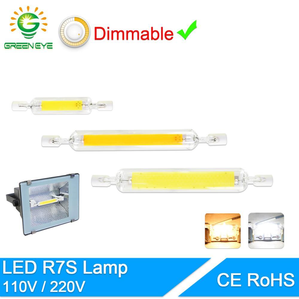 Led Bulb R7S J78 J118 Dimmable Led Lamp 78mm 118mm 135mm 189mm Corn Replace Halogen 150W 500W Floodlight Spot Light AC 110V 220V