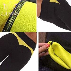 Image 5 - Lanfei Vrouwen Hoge Taille Sport Zweet Broek Taille Trainer Legging Shaper Slipje Hot Neopreen Body Sauna Afslanken Thremo Ondergoed