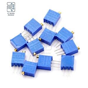 10PCS/Lot 3296W Trimmer Potentiometer 50R 100R 200R 500R 1K 2K 5K 10K 20K 50K 100K 200K 500K 1M 2M Ohm Resistance Assortment Kit