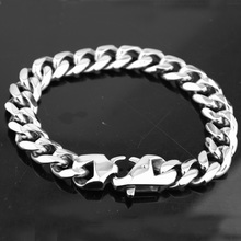Fashion 13/15mm Bracelet for Men Women Curb Cuban Link Chain Stainless Steel Mens Womens Bracelets Chains Jewelry