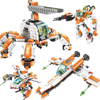 цена на Star Wars Creator Super Fighting Robot Destroyer Defender Helicopter Building Blocks kit Bricks Classic Model Toys Children gift
