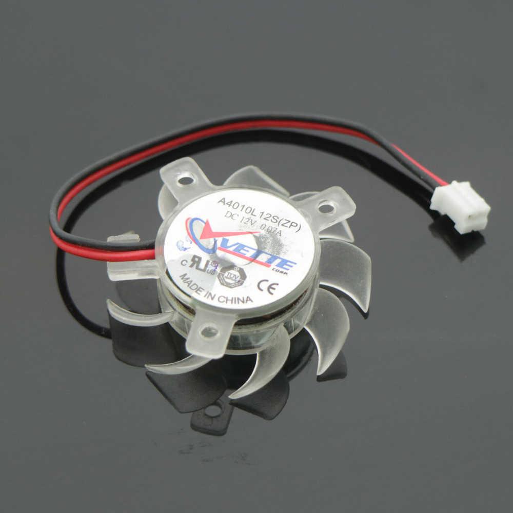 Бесплатная доставка VETTE A4010L12S(ZP)DC12V 35 мм 25x25x19 мм 12 В 0.07A 2 провода 2Pin 4010 вентилятор видеокарты