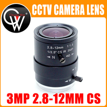 """3MP HD 2.8 12Mm Ống Kính Camera Quan Sát CS Mount Bằng Tay Tiêu Cự Hồng Ngoại 1/2.7 """"1:1.4 Cho An Ninh AHD Camera IP"""