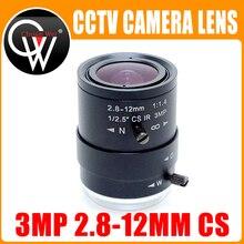 """3MP HD 2.8 12mm cctv lens CS Mount Manual Focal IR 1/2.7"""" 1:1.4 for Security IP Camera"""