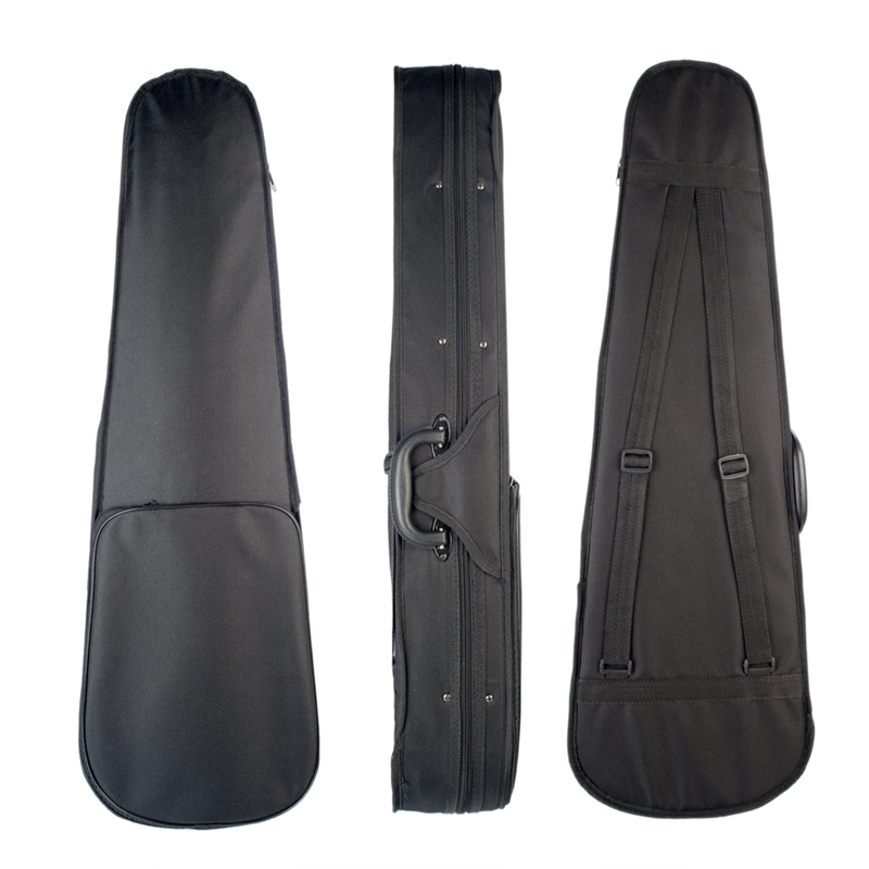 Wtsfwf Violin Case 4/4 3/4 1/2 1/4 1/8 1/10 1/16 Triangular Shape Violin Hard Case Yellow Blue Red Inside Violin Parts