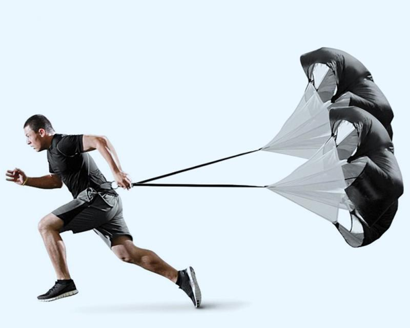 Running Parachute Speed Training Strength Umbrella Basketball Running Strength Resistance Umbrella Resistance Training Track A