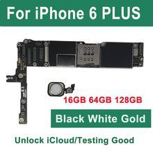 ICloud разблокированная материнская плата для iPhone 6 Plus с сенсорным ID отпечатком пальца, для iPhone 6 PLUS материнская плата 16 Гб 64 Гб 128GBLogic плата
