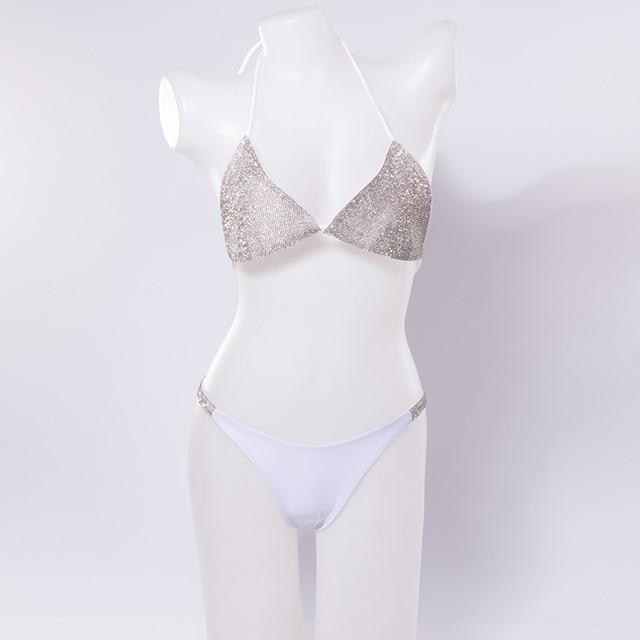 Silver Rhinestone Bikini Set 6
