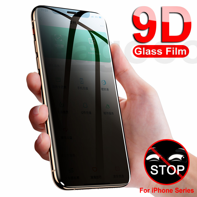 9D Antispy Tempered Glass On The For IPhone X XS XR 11 Pro Xs Max Screen Protector For IPhone 7 6 6S 8 Plus X Protection Film