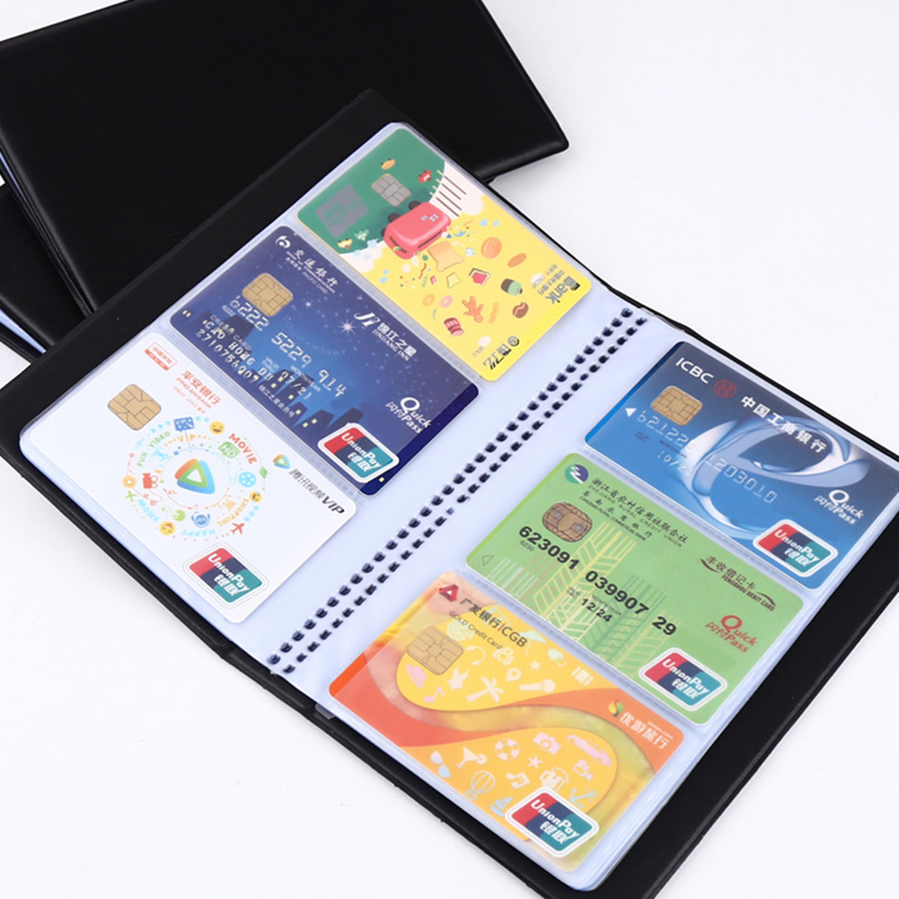 300/180 Cards Business Journal Name Card Book Holder Storage Bag Portable Large Capacity Bank Cards Business Name Card Organizer