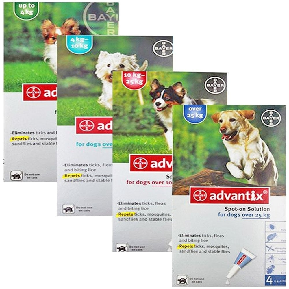 K9 Advantix Flea Tick And Mosquito Prevention Advantix 4 Dose Animal Health Control Fleas Ticks All Size For Dog