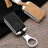 High Quality Suede Leather Car Key Case Cover Shell For Volvo XC40 XC60 S90 XC90 V90 2017 2018 T5 T6 2015 2016 T8 2016 2017 2018