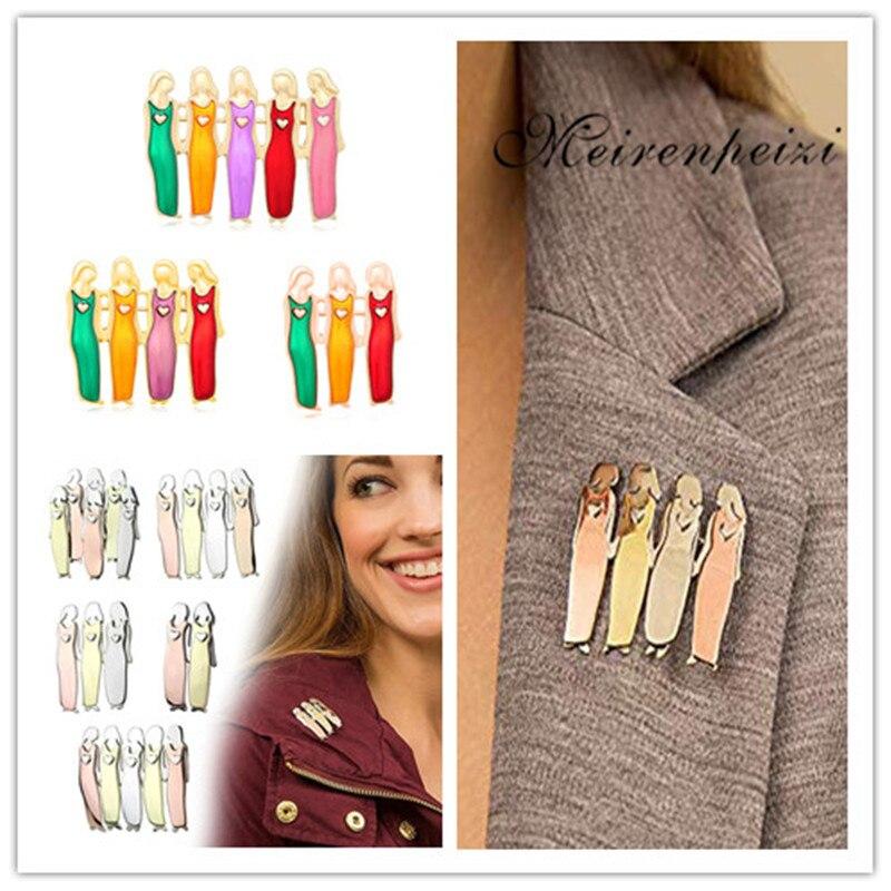 ! Friends Sister Brooch Sisterhood Tri-Color Durable Metal Brooches--Hot Sale