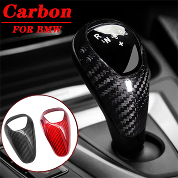 цена на Carbon Fiber Car Gear Shift Knob Cover Sticker Decals Styling Interior Trim Accessories For BMW M2 M3 M4 M5 F10-13 X5M X6M