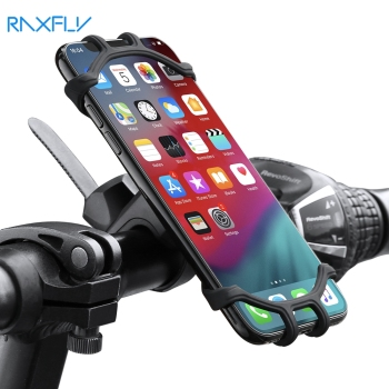 RAXFLY uchwyt na telefon rowerowy uchwyt na telefon komórkowy motocykl Suporte Celular dla iPhone Samsung Xiaomi Gsm Houder Fiets tanie i dobre opinie CN (pochodzenie) Uniwersalny FLOVEME Silicone Bike Phone Holder For iPhone Samsung Xiaomi Rowerów Silikon Bicycle Handlebar Mount Holder For iPhone 11 Pro Xr X 7 8 Xs Max