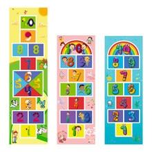 Colchoneta de Hopscotch para niños, juguetes sensoriales deportivos divertidos para interior y exterior, bolsa para lanzar