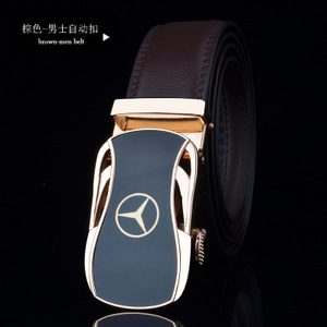 Image 4 - men belt luxury belts for men car logo Casual beltFull leather Famous brand new designer male automatic buckle cow leather