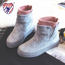 New Winter Boots Women Shoes Fashion High-heeled Ankle Female WInter Snow Warm Plush