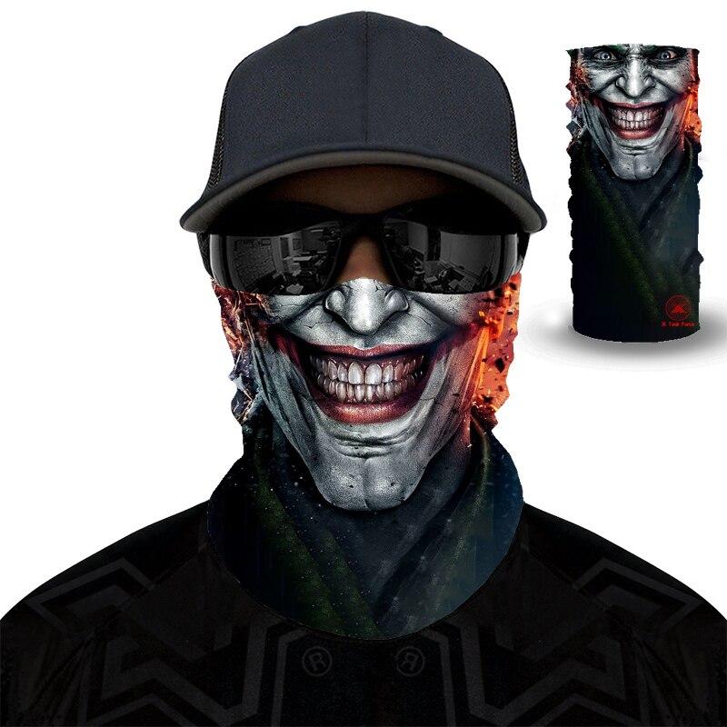 Bandanas Windproof Neck Gaiter Skull Balaclava Magic Facemask Joker Movie Magic Scarf Sport Mask Cycling Headwear