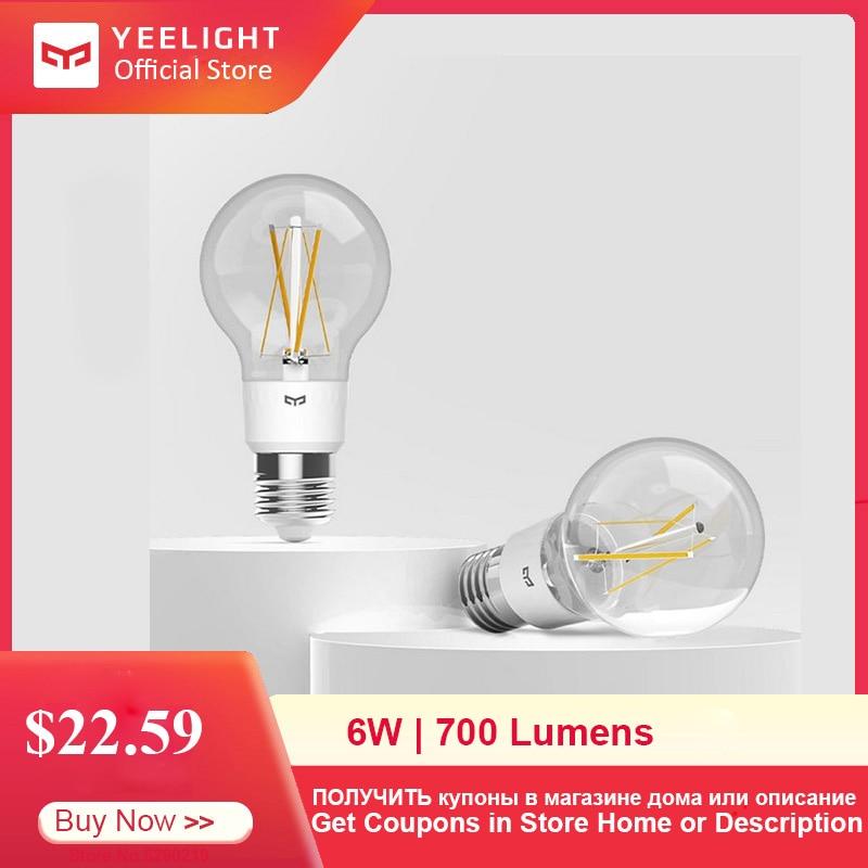 Yeelight YLDP12YL E27 Smart LED Filament Light 700 Lumens 6W Lemon Smart Bulb Work With Apple Homekit