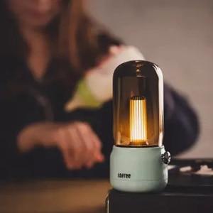 Image 2 - لوفري شمعة ضوء الرجعية 1800k اثنين من وسائط الضوء USB شحن/عمود شحن LED ضوء شمعة مصباح طاولة الإبداعية