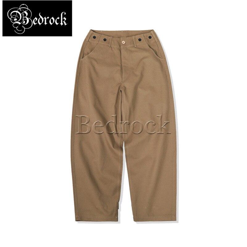 MMC Men's Loose Drape Casual Pants Street Overalls Loose Straight Wide Leg Pants Twill Fabric Khaki Pants Shrinkable cuff 7283