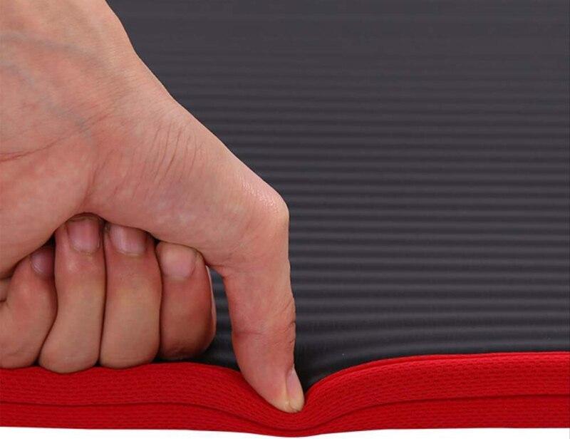 Exercise Sports Gym NBR Non-Slip Mats Fitness Sit-ups Body Shape Yoga Mat 10mm Thick Pilates Anti-Tearing Beginner Pads 15