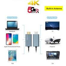 GGMM عصا تلفاز محسّنة ، شريط مزدوج 5G ، دونجل عرض لاسلكي 4K HD ، HDMI ، واي فاي ، محول USB ، مستقبل Miracast Airplay DLAN