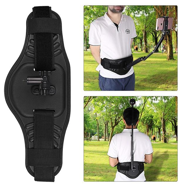 insta360 one X Adjustable back front waistband belt with invisible 1.2m 2m selfie stick For insta360 evo/one X Ricoh Accessories
