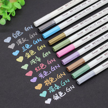 6-12Pcs/Box Drawing Painting Marker Pens Metallic Color Pens for Black Paper Art Supplies Marker Pen Stationery Material Escolar