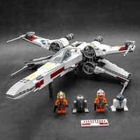 Lepinblocks 05145 star movie wars x-wing starfighters compatível com legoinglys 75218 construção brinquedos blocos tijolos para crianças
