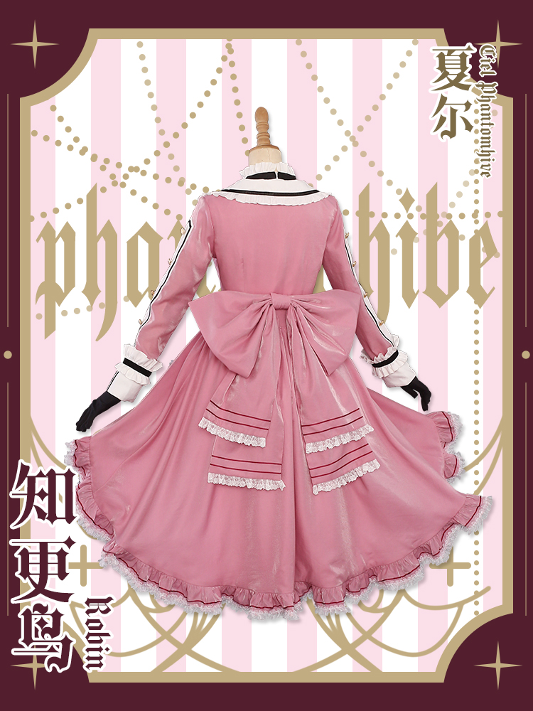 Black Butler Ciel Phantomhive New Long Full Dress Cosplay Costume Free Shipping