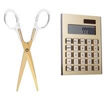 Akrylowe złote artykuły papiernicze) nożyczki 1) akrylowy kalkulator energii słonecznej
