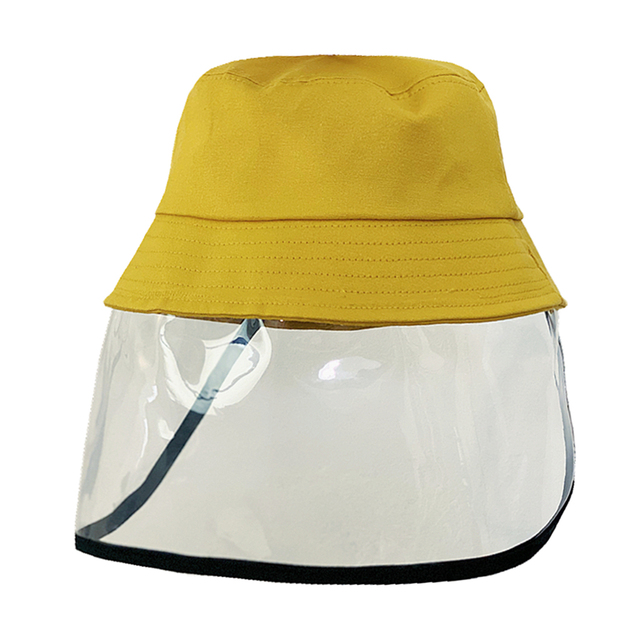 Kids Anti-spitting Clear Face Shield bucket hat  Protective Hat Cap Peaked Cover Safety Unisex Anti-saliva Face Cover Cap 4