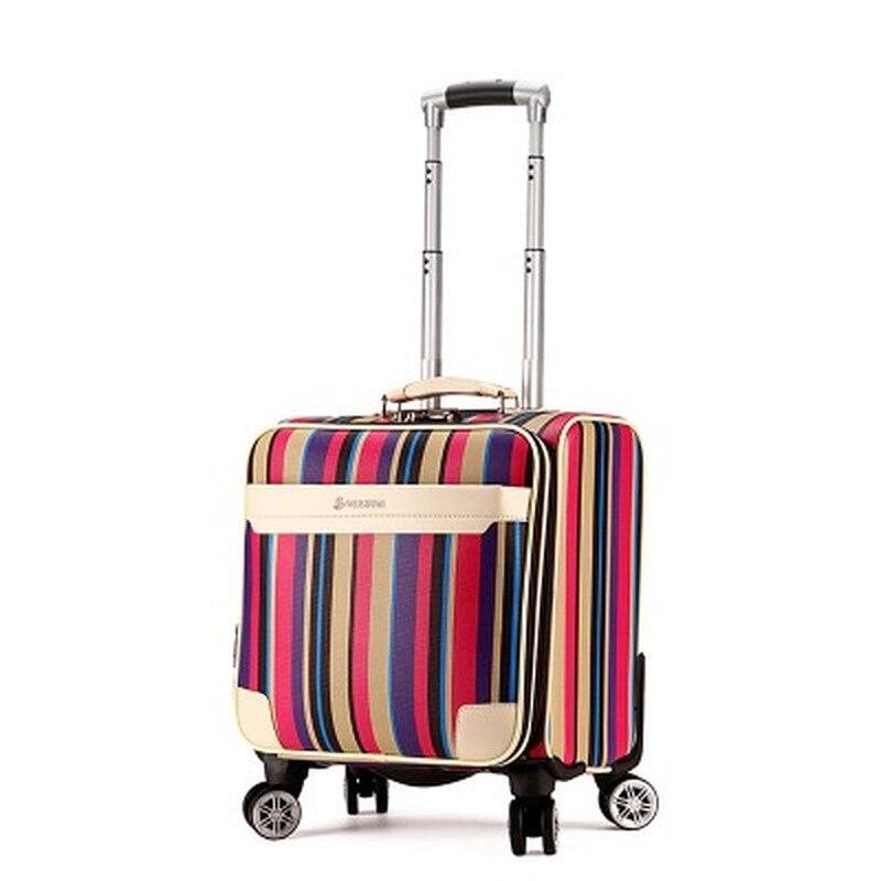 Letrend 3D Красочные вертушки для багажа, женские чемоданы розового золота, колесики, каюта, тележка, дорожная сумка, 20/24 дюймов, переноска на баг... - 6