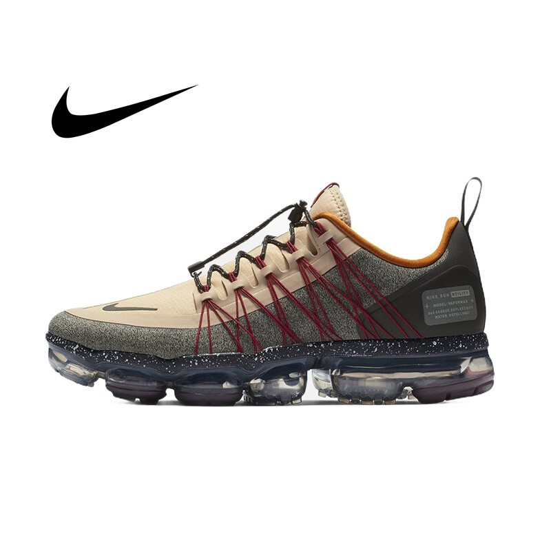 Original Nike Air Vapormax Run Utility Official Men's Running Shoes Wear Resistant Comfortable Breathable Sneakers AQ8810-200