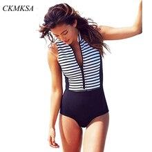 цена на 2019 New Sexy One Piece Swimsuit Women Swimwear Push Up Monokini Bodysuit Zip Rash Guard Swimsuit Female Bathing Suit Beach Wear